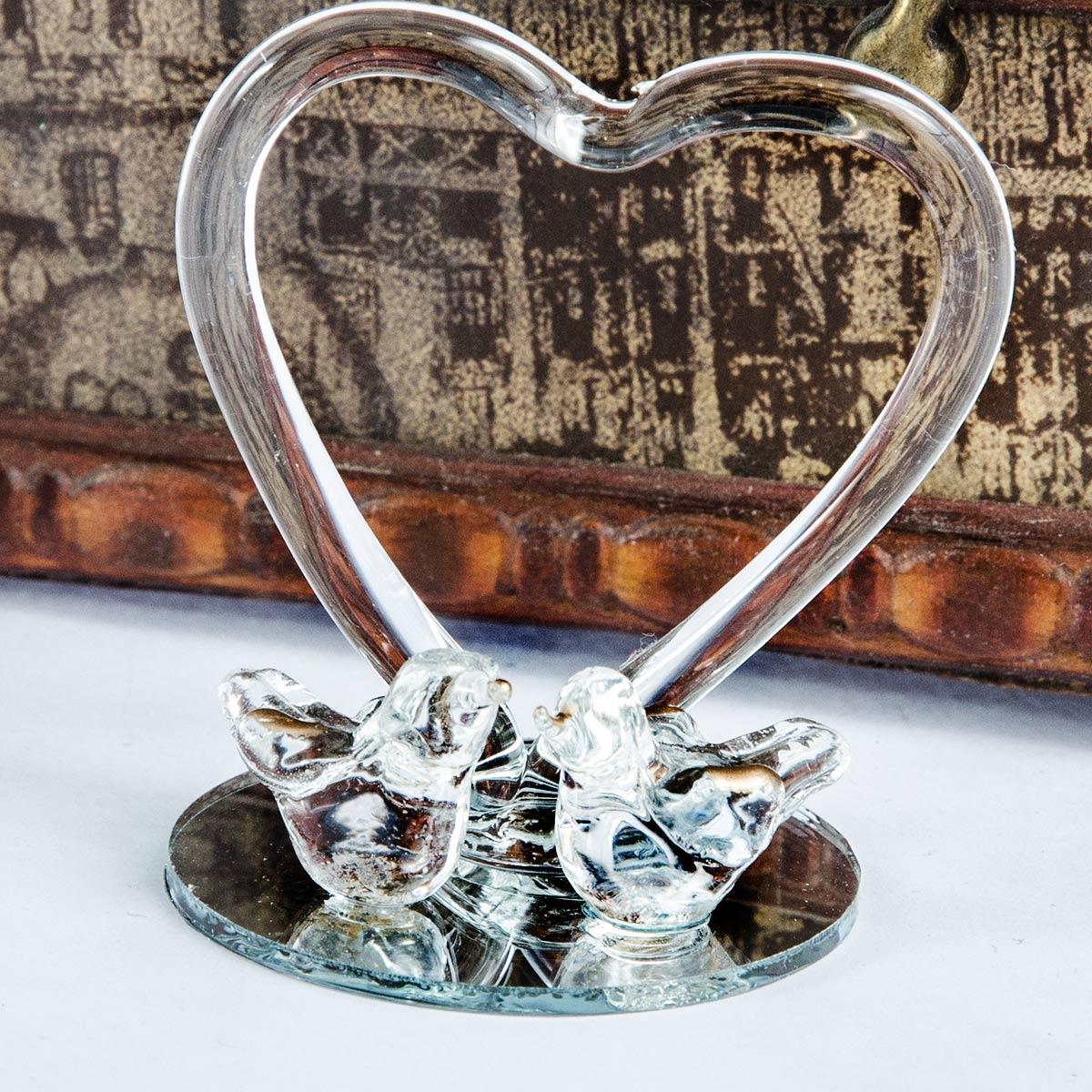 Marturii Nunta Marturie Porumbei Din Sticla Cu Inima For Only 650