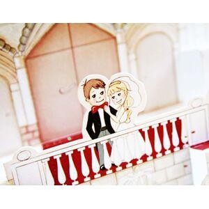 Invitatie de nunta 3D cod 32416