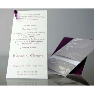Invitatie nunta cu motive florale cod 34906