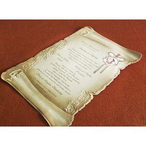 Invitatii nunta tip papirus cod 30114