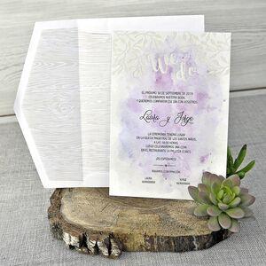 Invitatie de nunta cu elemente florale cod 39304