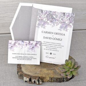 Invitatie de nunta cu tematica florala cod 39320