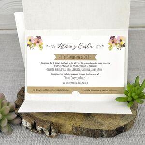 Invitatie de nunta cu mire si mireasa cod 39322