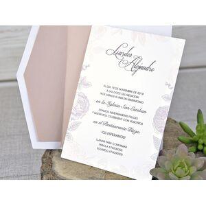 Invitatie de nunta cu decupaje laser cod 39328-1