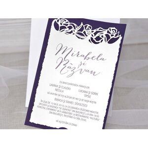 Invitatie de nunta cu decuje laser cod 39348