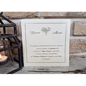 Invitatie nunta crem cod 2541