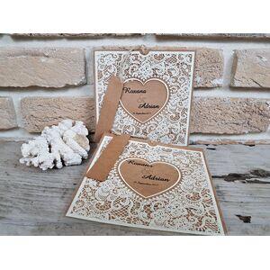 Invitatie nunta cu ornamente vintage cod 2686