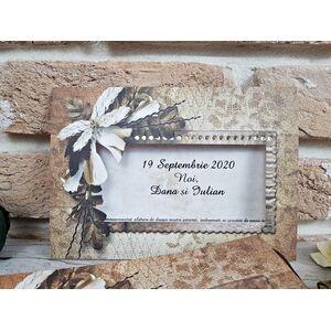 Invitatie nunta cu tematica de toamna cod 2737