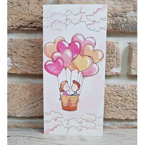 Invitatie nunta cu balon cu aer cald cod 2769