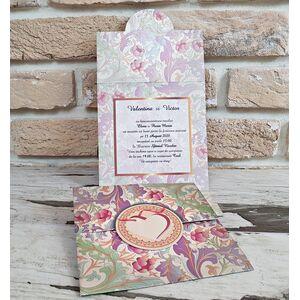 Invitatie nunta cu motive florare cod 2771