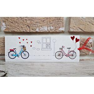 Invitatie nunta bicicleta lui, bicicleta ei cod 2786
