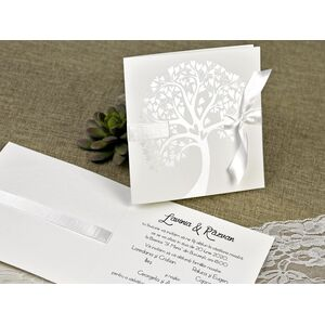 Invitatie de nunta copacul iubirii cod 39642