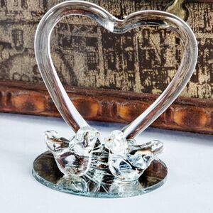 Marturie porumbei din sticla cu inima