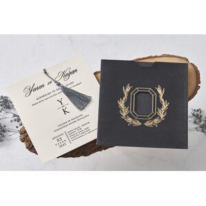 Invitatie nunta catifea cod 1128