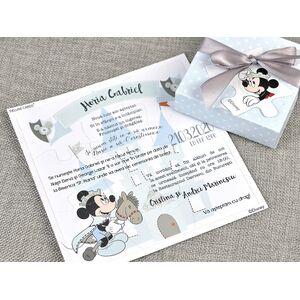 Invitatie botez cutiuta puzzle cu Mickey cod 15707