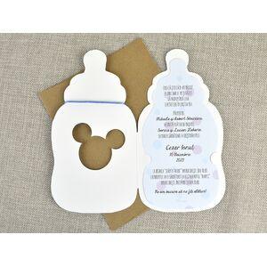 Invitatie botez biberon Baby Mickey cod 15717