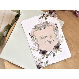 Invitatie de nunta Boho Chic cod 39789