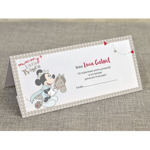 Card de masa/plic de bani botez 'Mickey - micul print' cod 5702