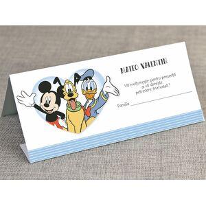 Card de masa/plic de bani botez 'Mickey si prietenii' cod 5723