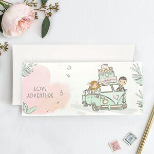 "Invitatie de nunta ""Love Adventure"" 39739"