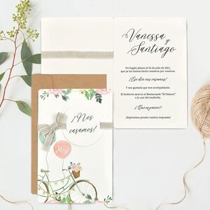 "Invitatie de nunta ""Mr and Mrs"" 39736"