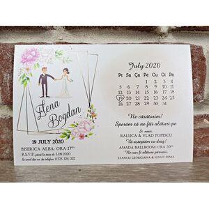 Invitatie de nunta cod 5636