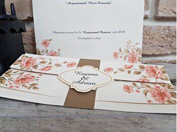 Invitatie cu tematica florala nunta cod 2706