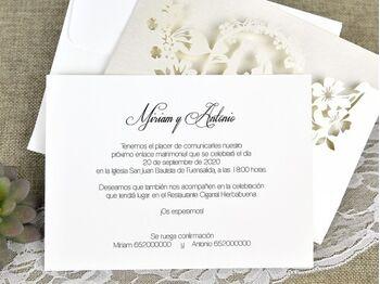 Invitatie nunta cu decupaje laser cod 39625-1