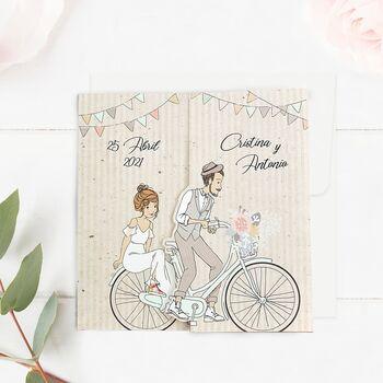 Invitatie de nunta Bicicleta Familiei 39714